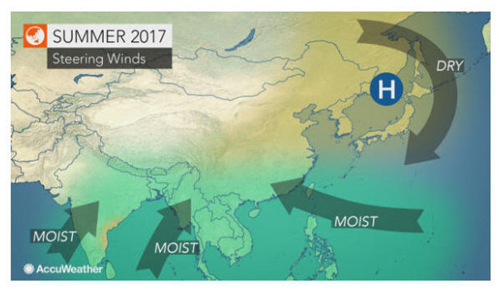 2017 Asia Summer Forecast: Heat May Become Excessive, Dangerous In