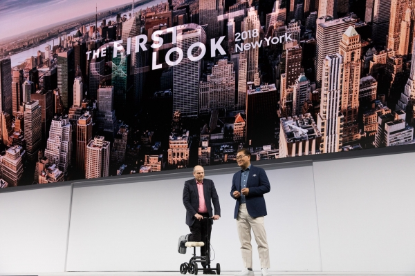 President Han is on stage with Mark Thompson President and Chief Executive Officer of the New York Times company.