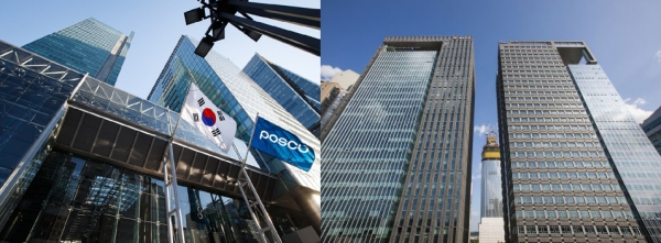 Posco and Samsung SDS (left)
