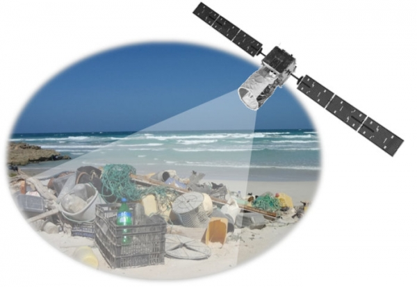 An ESA Basic Activities project is investigating the feasibility of measuring plastic litter floating in the ocean from orbit(Credit ESA–J. Veiga)