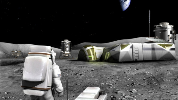 Moon base(Credit: ESA)
