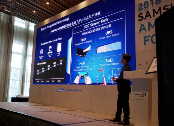 On October 18, Samsung Display invited about 20 customers to hold '2018 Samsung OLED Forum' at Shenzhen Marriott Hotel in China.