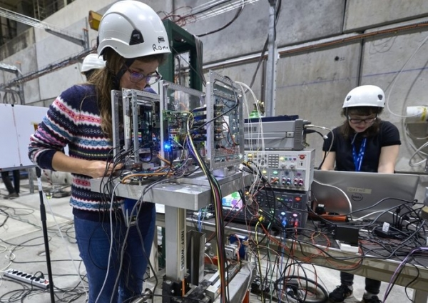 AI chip testing at CERN(Credit: CERN)