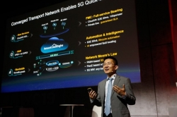 Jeffrey Gao, President of Huawei Router & Carrier Ethernet Product Line, launches the 5G-ready converged transport network solution