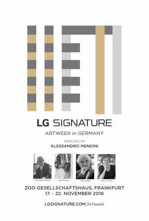 LG Signature Artweek 2018 exhibits in Germany, Russia and Spain during Nov/Dec