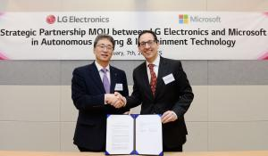 LG, Microsoft sign MOU to accelerate automotive revolution